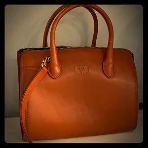Valentino Brown Leather Tote